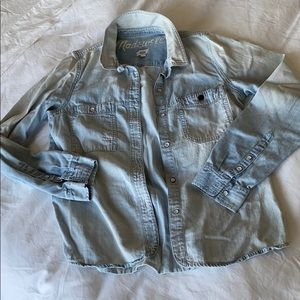 Women's Madewell Denim Shirt - Medium